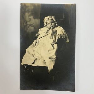 Other - Antique RPPC Victorian/Edwardian Baby in Carriage